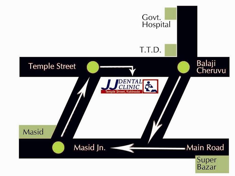 JJ Dental Clinic, JJ DENTAL CLINIC & IMPLANT CENTER, TEMPLE STREET, KAKINADA, ANDHRA PRADESH, 533001, INDIA
